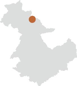 恵那峡エリアの位置