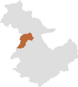 三郷町エリアの位置