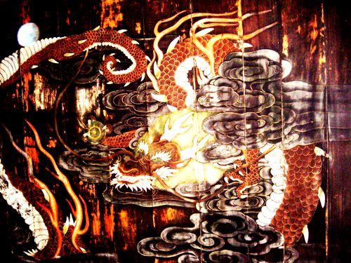 円頂寺の天井絵「八方にらみの龍」