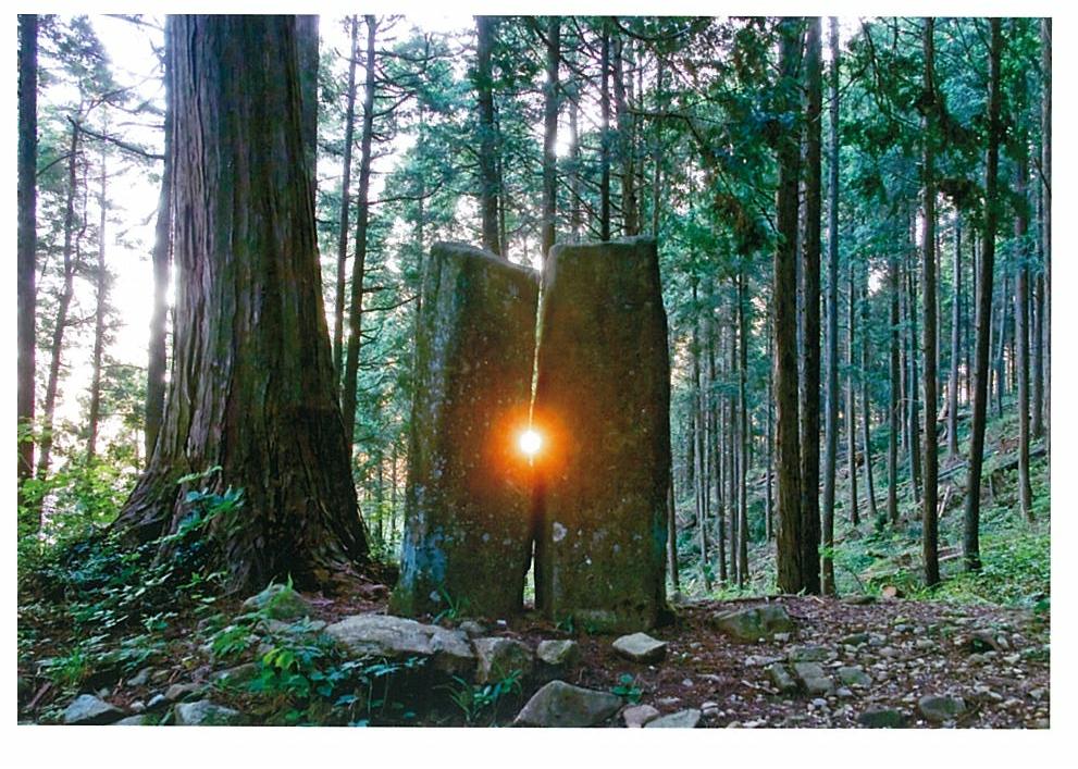 鍋山のメンヒル(夏至の日の出)