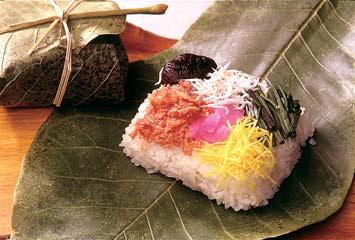 ほう葉寿司づくり体験イメージ